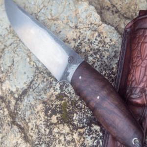 Custom walnut handle knife