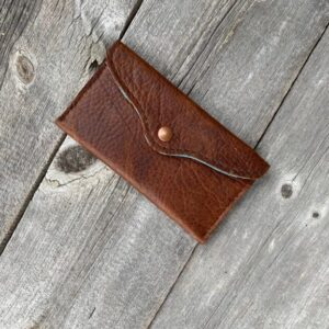 Bison leather pouch