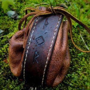 Handcrafted Leather Rune Pouch