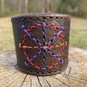 Custom Hand-Stitched Leather Cuff