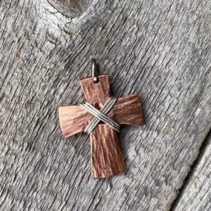 Forged Copper Cross Pendant